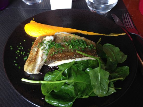 Tempero : cabillaud et riz noir - épinards
