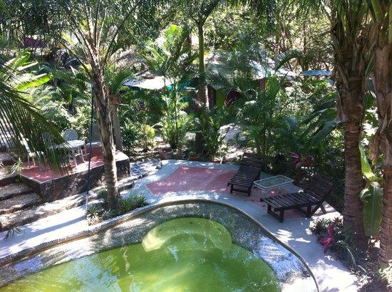 La Tropicale Beach Lodge: piscine au milieu du jardin