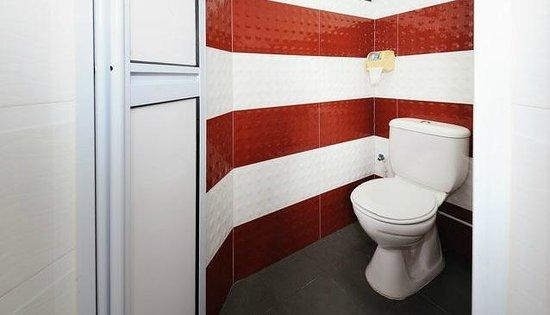 Lotus Hostel: Bathroom and Toilet