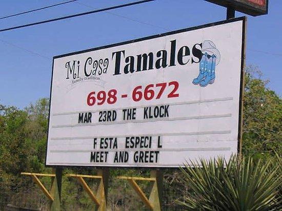 Mi Casa Tamales: Exterior Sign
