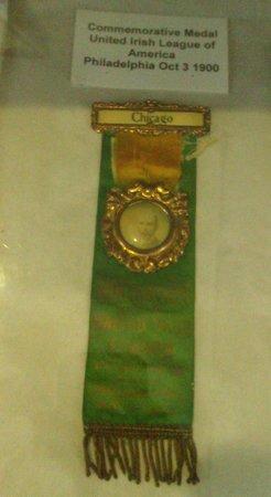 Michael Davitt Museum: Commemorative Medal, United Irish League of America Philidelphia 1900