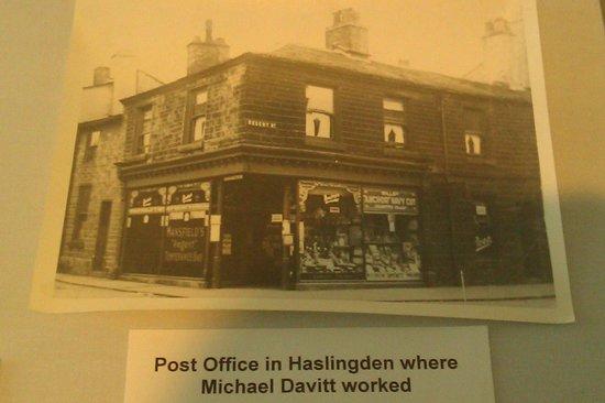 Michael Davitt Museum: Post Office in Haslingden where Michael Davitt worked