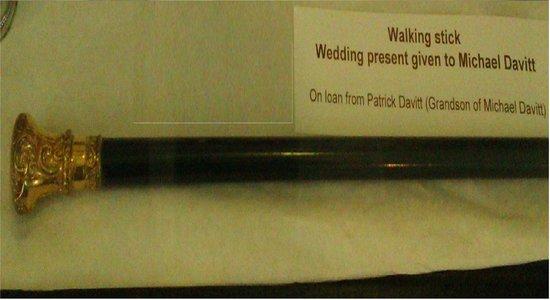 Michael Davitt Museum: Walking stick given to Michael Davitt as a wedding present