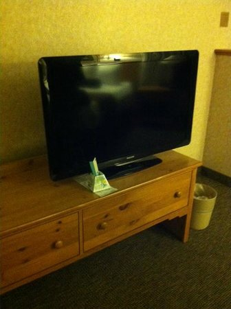 BEST WESTERN PLUS Executive Court Inn & Conference Center: flat screen tv in both sitting area and bedroom