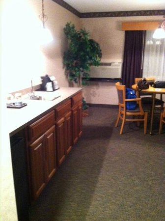 BEST WESTERN PLUS Executive Court Inn & Conference Center: kitchen/dining area with microwave, fridge, sink, coffee pot