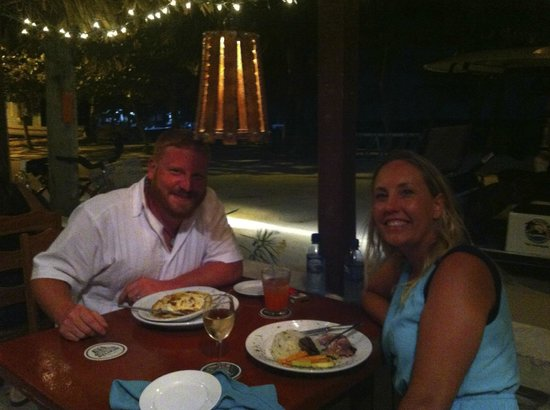 Coconut Reef Caribbean Trattoria: The patio seating and scenic view
