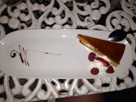 Calizo Restaurant: Coconut Flan.  The creamiest flan I ever had!  The picture doesn't do it justice!