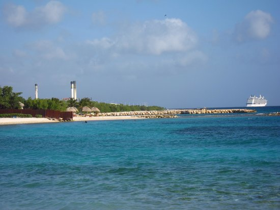 Curacao Marriott Beach Resort & Emerald Casino: you can see the desalinization plant