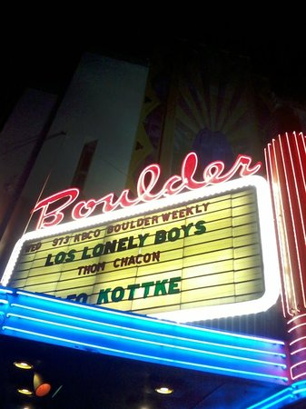 Boulder Theater : Outdoor sign.