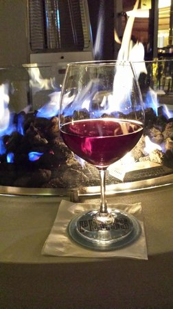 Four Seasons Hotel Las Vegas: Press wine by the fire pit!