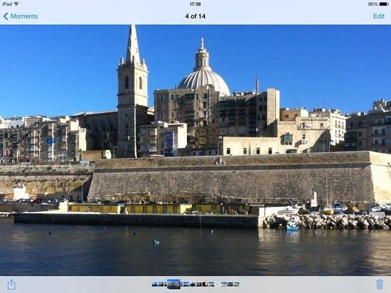 The Palace: Near to landing at Valetta from Sleima
