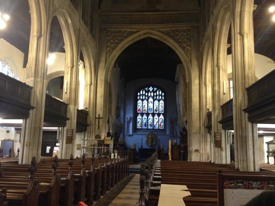 Great St Mary's Church (Church of England): inside view