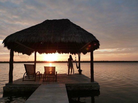 Bacalar Lagoon Resort: Sonnenaufgang