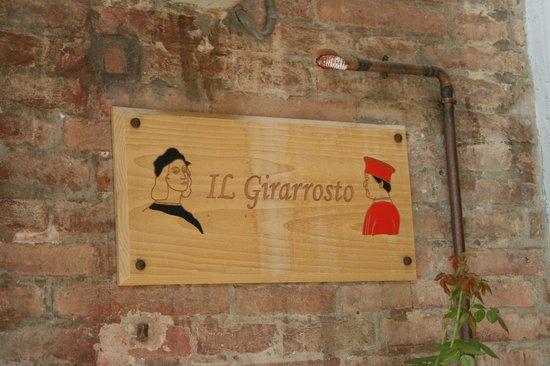 Il Girarrosto : Cartello.