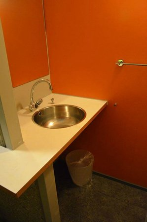 Lausanne Youth Hostel: Separate room for wash basin and fridge