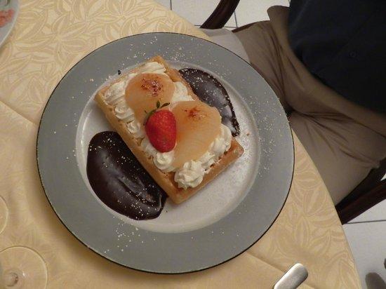 Sur le Chemin des Bories: Dessert : Gauffes poires chocolat