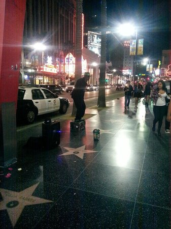 Hollywood Walk of Fame: on the hollywood strip
