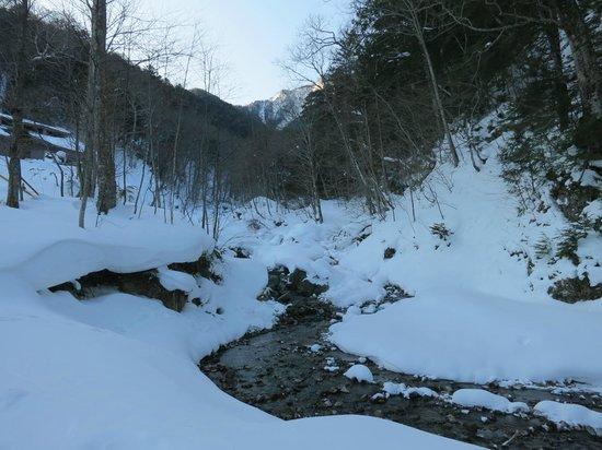 Teshirozawa Onsen: View from outside the onset