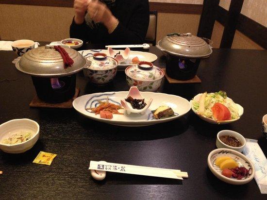 Hotel Shirakawa Yunokura : 朝食