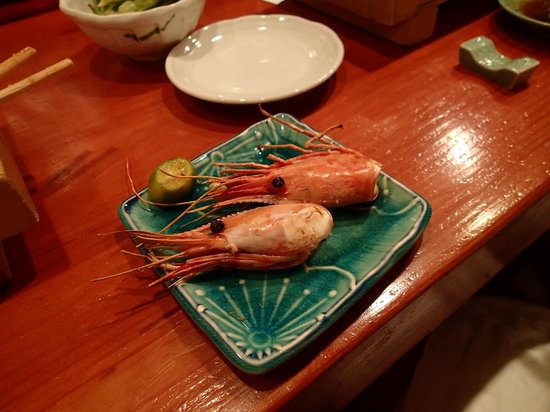 Koiso Sushi Bar: Sweet shrimp...the cooked heads!