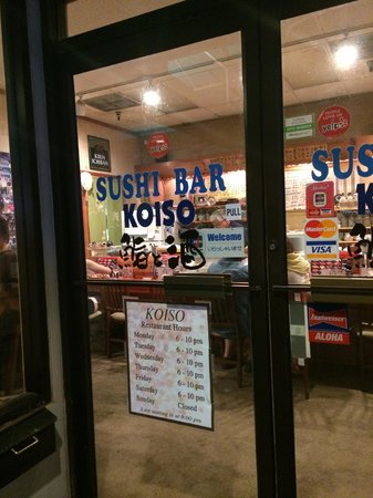 Koiso Sushi Bar: Sort of hard to find.This is what you are looking for.