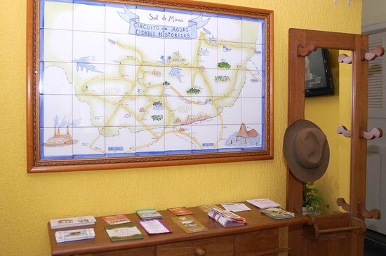 Hotel Platino: Mosaico com o mapa ilustrativo da região