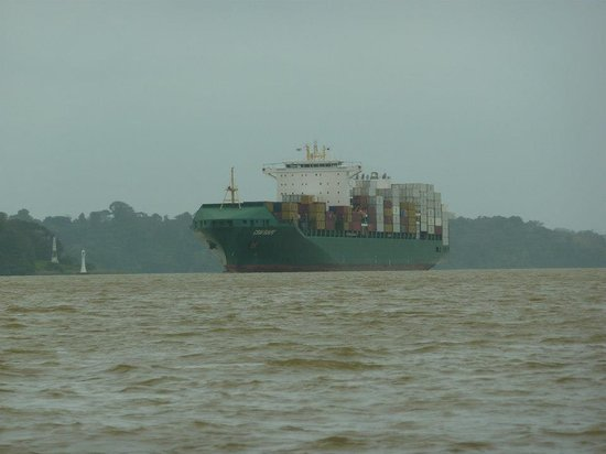 Jungle Land Panama: Day Excursions: Navigating Gatun near large ships