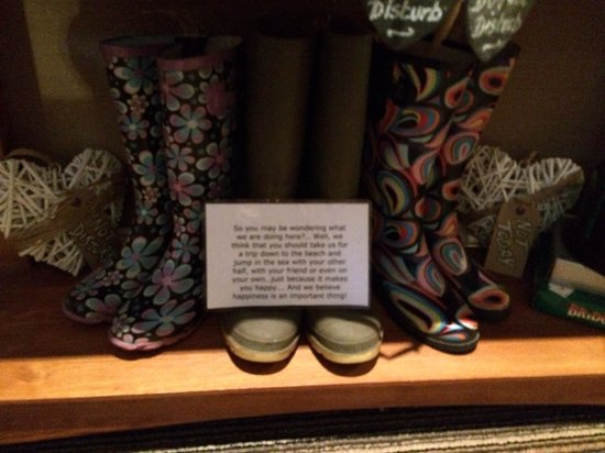 The Urban Beach Hotel: Borrow these wellies and go for a splash in the sea , because fun is an important thing!!!