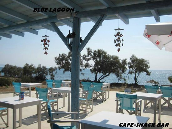 Kastraki Beach : #BlueLagoon snack-bar