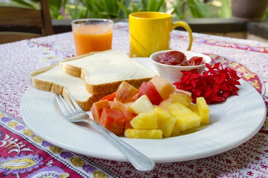 Encantada Ocean Cottages: Continental Breakfast