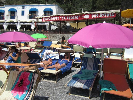 Wisely Travelling: The private beach at Ristorante D'Adolfo