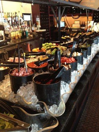 4 Sisters Wine Bar and Tapas Restaurant: All u can eat salad bar Monday thru Friday.$8.99