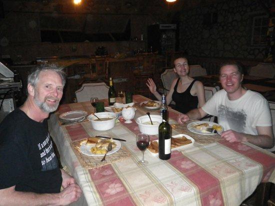 Island HoppInn: having a gormet meal in the outdoor dining area