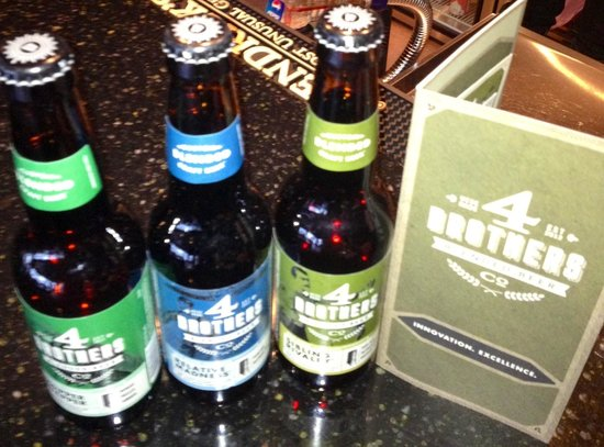 4 Sisters Wine Bar and Tapas Restaurant: 4 brothers beer now at the Sisters
