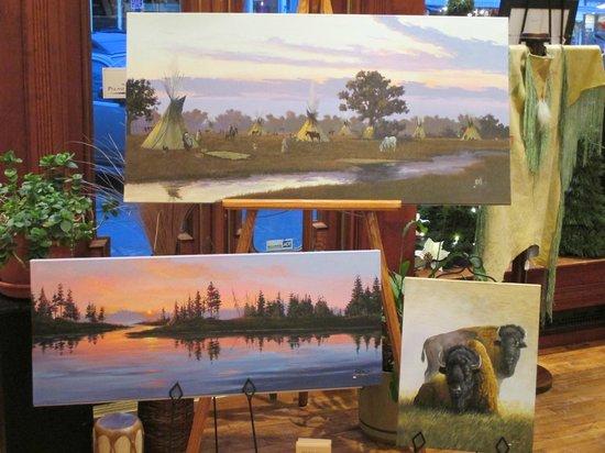 Prairie Edge Trading Co. & Galleries: Del Iron Cloud original paintings