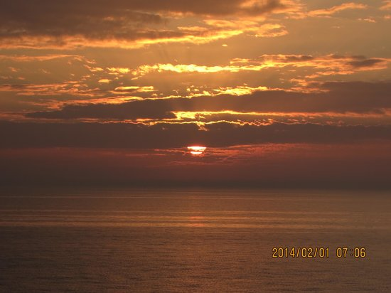 Seagate Condominiums: Sunset from our balcony