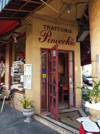Trattoria Pinocchio : Tucked into a tight corner along Columbus Avenue.