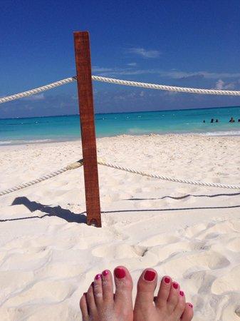 Grand Fiesta Americana Coral Beach Cancun: View from club level reserved beach