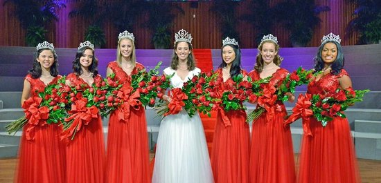 Tournament of Roses Association: the Queen and her Court - there are 4 more of them