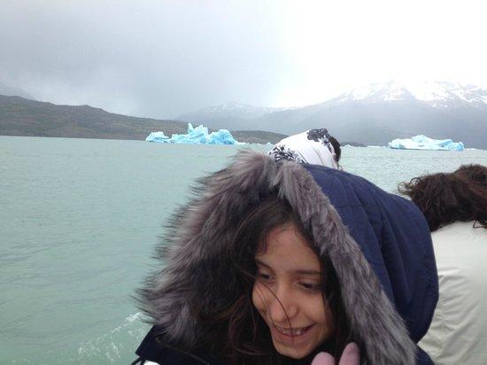 Solo Patagonia S.A. Day Tours: Os primeiros gelos no percurso.