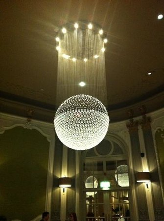 "The Midland: Spectacular chandelier in ""The French""."