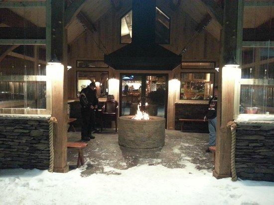Pine Junction: The back entrance w/firepit