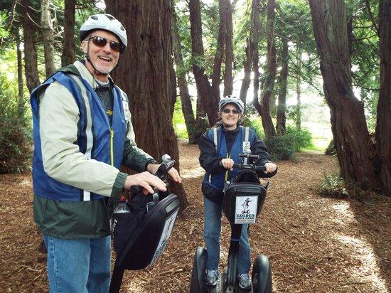 Electric Tour Company Segway Tours : segwaying among  the trees