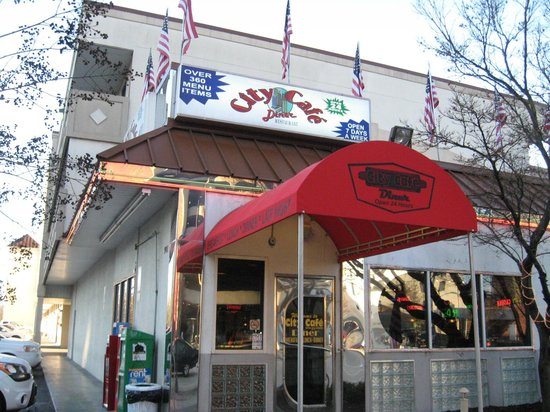 City Cafe Diner: Front awning