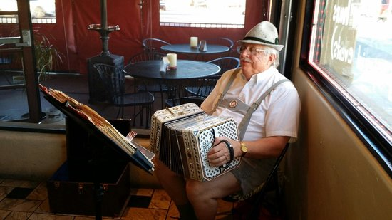 Joel Wanha playing Concertina at Pasquale's Place for German Night.
