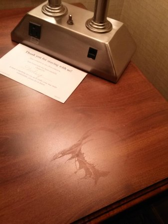 Howard Johnson Portsmouth: one spill marking on desk
