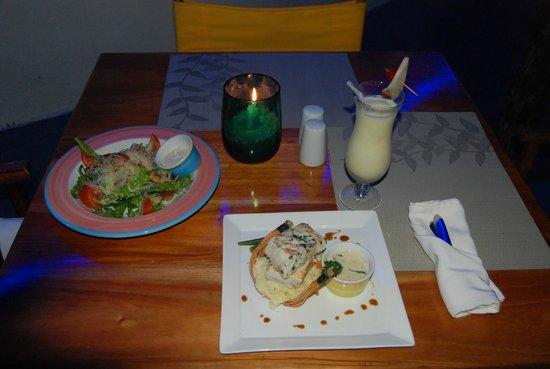 Hotel Solymar: Freshly caught wahoo meal