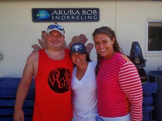 Aruba Bob Snorkeling: And his professional daughter