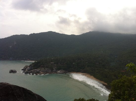 The Sanctuary Thailand: View of Sanctuary beach from lookout point