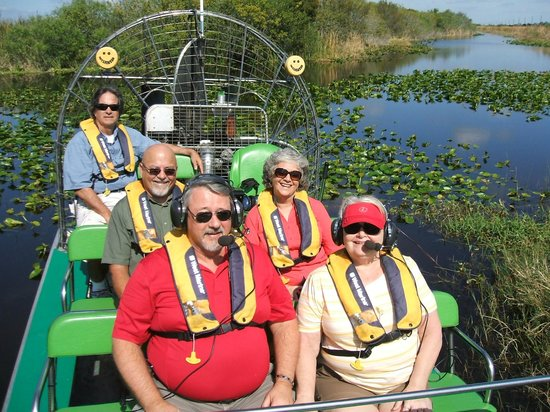 Florida Airboat Excursions: Getting ready to start the ride .